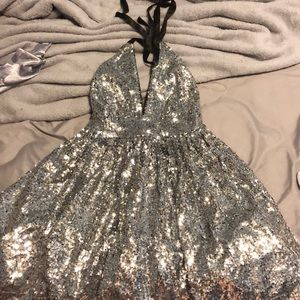 Dresses & Skirts - short all over silver sparkly dress